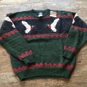 Vintage Woolrich Wool Knit Mallard Sweater XL